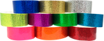 "Adhesive 1"" X 10"" Sparkle Solid Colour wristbands"