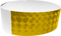 "An Adhesive 1"" X 10"" Techno Solid Gold wristband"