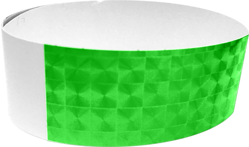 "An Adhesive 1"" X 10"" Techno Solid Neon Lime wristband"