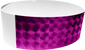 "An Adhesive 1"" X 10"" Techno Solid Purple wristband"