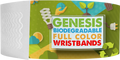 "Custom Genesis 1"" x 10"" Litter Free Biodegradable Full Colour Imprint wristbands"