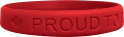 Silicone Proud To Be Canadian Wristband