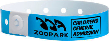 "Custom Soft Comfort Plastic 3/4"" x 10"" L-Shape One Colour Imprint Snapped Wristbands"