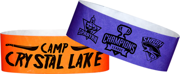 "Custom Tyvek® 1"" x 10"" One Colour Imprint Wristbands"