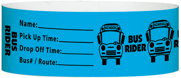 "A Tyvek® 1"" X 10"" Bus Rider Light Blue wristband"