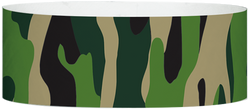 "Tyvek® 1"" x 10"" Camouflage pattern wristbands"