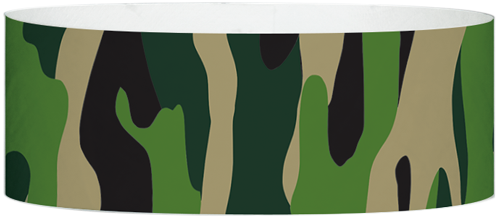 "A Tyvek® 1"" X 10"" Camouflage Multicoloured wristband"
