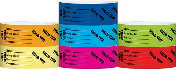 "Tyvek® 1"" X 10"" Field Trip Wristbands"