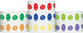 "Tyvek® 1"" x 10"" Happy Face pattern wristbands"