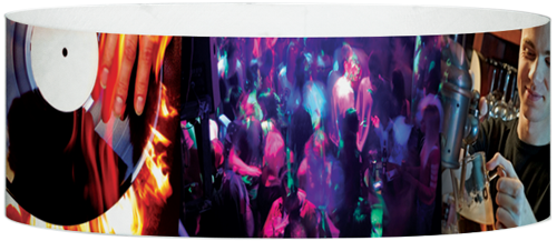 "A Tyvek® 1"" X 10"" Night Club Multicoloured wristband"