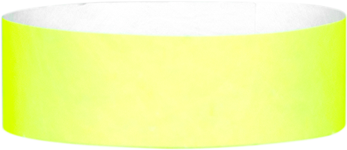 "A Tyvek® 1"" solid Yellow Glow wristband"