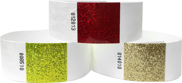 "1"" Tyvek® Wristbands with 1"" Sparkle Strip"
