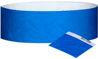 "A 1"" Tyvek® with stub solid Blue wristband"