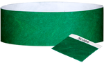 "A 1"" Tyvek® with stub solid Green wristband"