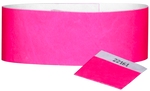 "A 1"" Tyvek® with stub solid Neon Pink wristband"