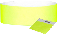 "A 1"" Tyvek® with stub solid Yellow Glow wristband"