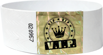 "Custom 1-Color 1"" Tyvek® Wristbands with 1"" Techno Strip"