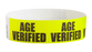 "Tyvek® 3/4"" x 10"" Sheeted Pattern Age Verified pattern wristbands"