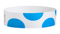 "A Tyvek®  3/4"" x 10"" Sheeted Pattern Half Circles Light Blue wristband"