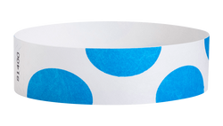 "Tyvek® 3/4"" x 10"" Sheeted Pattern Half Circles pattern wristbands"