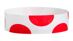 "A Tyvek®  3/4"" x 10"" Sheeted Pattern Half Circles Red wristband"