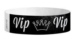 "Tyvek® 3/4"" x 10"" Sheeted Pattern VIP Crown pattern wristbands"