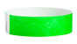 "A Tyvek®  3/4"" x 10"" Sheeted Solid Neon Green wristband"