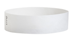 "A Tyvek®  3/4"" x 10"" Sheeted Solid White wristband"
