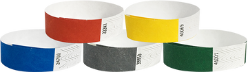 "Tyvek® 3/4"" Solid Colour Combo Pack Wristbands"