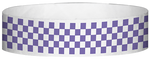 "A Tyvek® 3/4"" X 10"" Checkerboard Purple wristband"