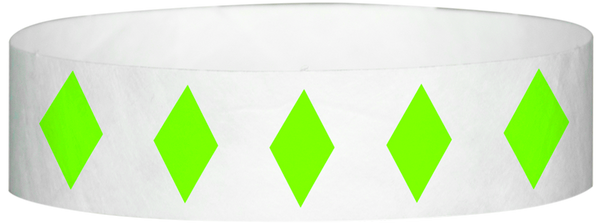 "A Tyvek® 3/4"" X 10"" Diamond Neon Lime wristband"