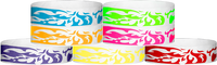 "Tyvek® 3/4"" x 10"" Flames pattern wristbands"