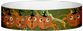 "Tyvek® 3/4"" x 10"" Happy Pumpkins pattern wristbands"