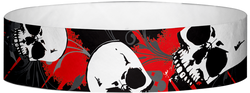 "Tyvek® 3/4"" x 10"" Skulls pattern wristbands"
