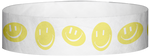 "A Tyvek® 3/4"" X 10"" Happy Face Yellow Glow Wristband"