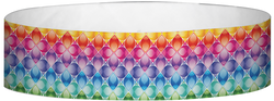 "Tyvek® 3/4"" x 10"" Kaleidoscope pattern wristbands"