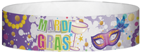 "A Tyvek® 3/4"" X 10"" Mardi Gras Martini Glass Multicoloured wristband"