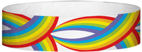 "A Tyvek® 3/4"" X 10"" Rainbow Multicoloured wristband"