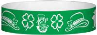 "A Tyvek® 3/4"" X 10"" St.Patricks Day Wristband"