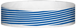 "A Tyvek® 3/4"" X 10"" Stripes Blue wristband"