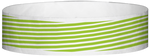 "A Tyvek® 3/4"" X 10"" Stripes Neon Lime wristband"