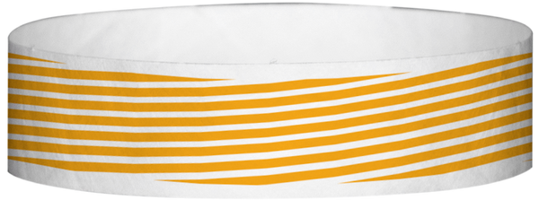 "A Tyvek® 3/4"" X 10"" Stripes Neon Orange wristband"