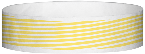 "A Tyvek® 3/4"" X 10"" Stripes Yellow Glow wristband"