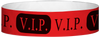 "A Tyvek® 3/4"" X 10"" VIP Red Wristband"