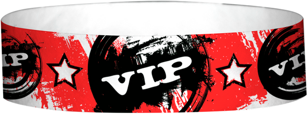 "A Tyvek® 3/4"" X 10"" VIP Vintage Red Wristband"
