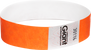 "Tyvek® 3/4"" x 10"" Polka Dot Radiance Neon Orange wristbands"