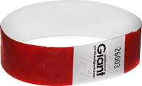 "Tyvek® 3/4"" x 10"" Polka Dot Radiance Red wristbands"