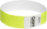 "Tyvek® 3/4"" x 10"" Polka Dot Radiance Yellow Glow wristbands"
