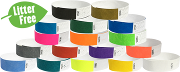 "Litter Free 3/4"" Tyvek® Wristband Solid Colour"