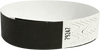 "A Tyvek® 3/4"" solid Black wristband"